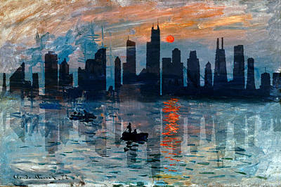 Photograph - Chicago Skyline 5 by Andrew Fare