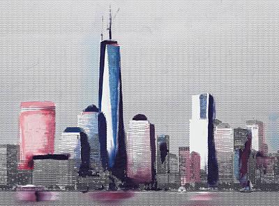 Liberty Painting - Chicago Skyline 651 4 by Mawra Tahreem