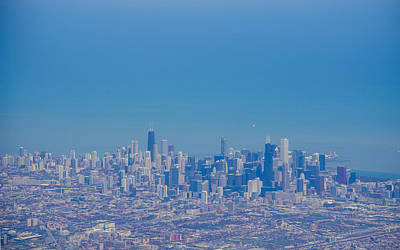 Photograph - Chicago Skyline Aerial View by Deborah Smolinske