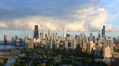 Chicago Photograph - Chicago Skyline After A Storm by Michael Paskvan