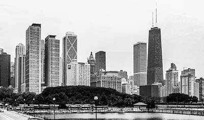 Lake Michigan Digital Art - Chicago Skyline Architecture by Julie Palencia