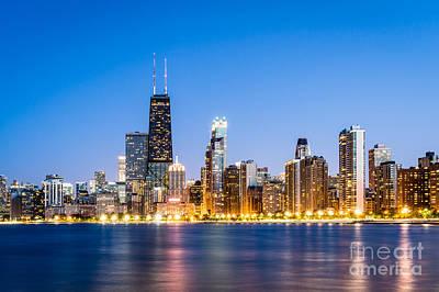 Chicago Skyline At Twilight Art Print by Paul Velgos