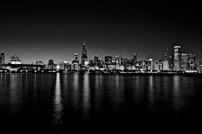 Photograph - Chicago Skyline Bnw by Richard Zentner