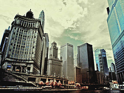 Dramatic Photograph - Chicago Skyline by Bob LaForce