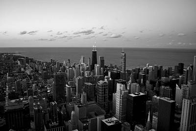 Photograph - Chicago Skyline Bw by Richard Zentner