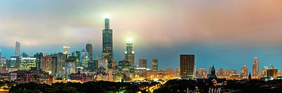 Photograph - Chicago Skyline City Panorama by Gregory Ballos