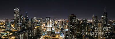 Photograph - Chicago Skyline - D009811 by Daniel Dempster