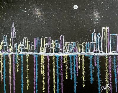 Painting - Chicago Skyline by Dink Densmore