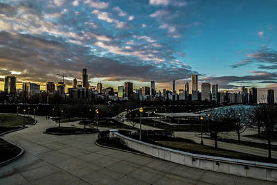 Photograph - Chicago Skyline From The Museum Campus by Sven Brogren