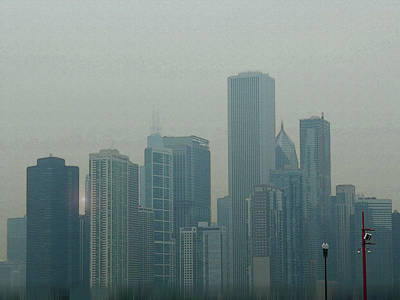 Digital Art - Chicago Skyline by Gina Harrison