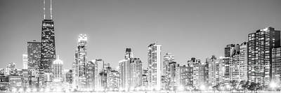 Chicago Skyline Gold Coast Panorama Photo Art Print