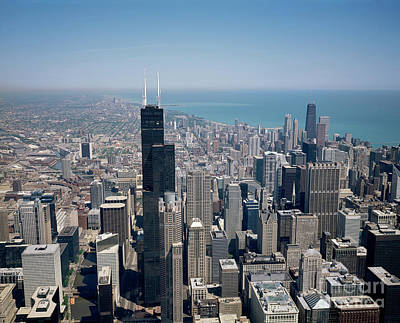 Photograph - Chicago Skyline - To License For Professional Use Visit Granger.com by Granger