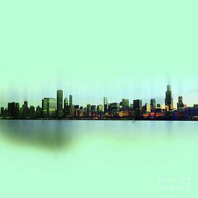 Washington Painting - Chicago Skyline by Gull G