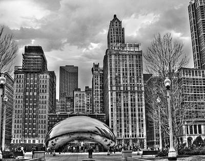 Photograph - Chicago Skyline In Black And White by Tammy Wetzel