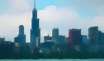 Photograph - Chicago Skyline by Jeff Iverson