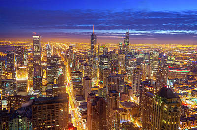 Skylines Royalty-Free and Rights-Managed Images - Chicago Skyline by Jess Kraft