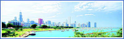 Digital Art - Chicago Skyline, Lake Michigan by A Gurmankin