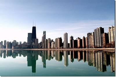 Symmetry Photograph - Chicago Skyline by Luiz Felipe Castro