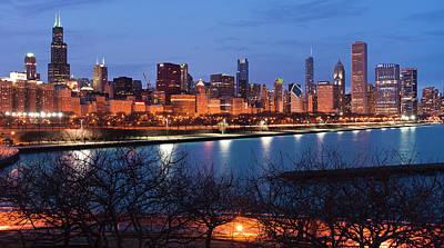 Schwartz Photograph - Chicago Skyline March 2011 by Donald Schwartz
