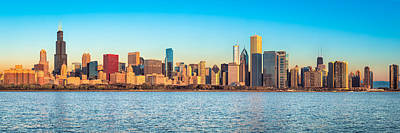 Adler Wall Art - Photograph - Chicago Skyline On A Clear Day by James Udall