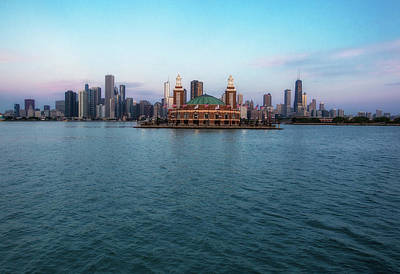 Photograph - Chicago Skyline Panorama by Lev Kaytsner