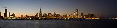 Chicago Skyline Panorama Art Print by Steve Gadomski