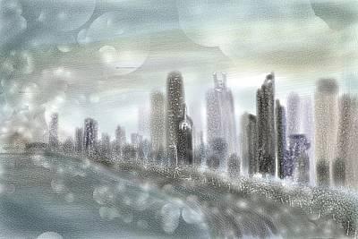 Spirituality Digital Art - Chicago Skyline by Sandrine Kespi