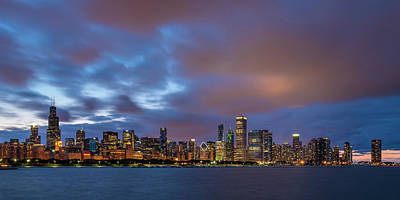 Photograph - Chicago Skyline Sunset by Ryan Heffron