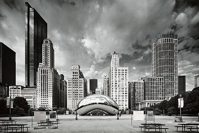 Photograph - Chicago Skyline The Bean  by Emmanuel Panagiotakis