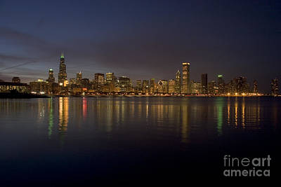 Willis Tower Photograph - Chicago Skyline  by Timothy Johnson