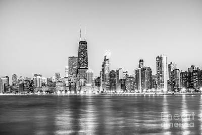 Chicago Skyline With Chicago Hancock Building Art Print by Paul Velgos