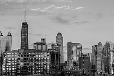 Photograph - Chicago Skyline With Hancock Tower by John McGraw