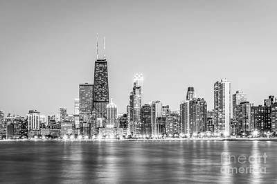 City Scenes Royalty-Free and Rights-Managed Images - Chicago Skyline with Hancock Building Photo by Paul Velgos