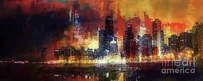 Chicago Skylines 02v Original by Gull G