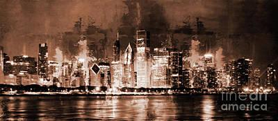 Chicago Skylines 77l Original by Gull G