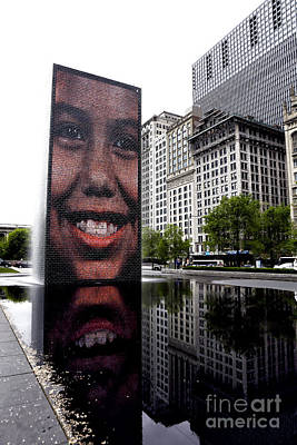 Photograph - Chicago Smiles by John Rizzuto