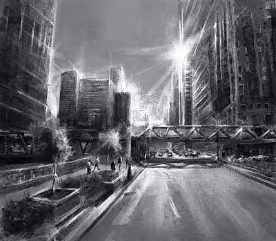 Painting - Chicago Street 4 by Bekim Art