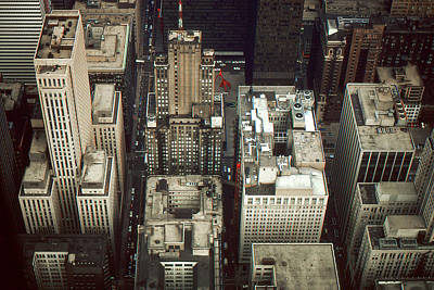 Chicago Street Canyons - Architecture Art Print