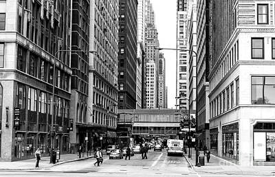 Photograph - Chicago Street Crossing by John Rizzuto