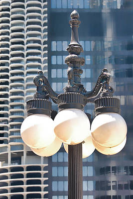 Photograph - Chicago Street Lamps by Ginger Wakem
