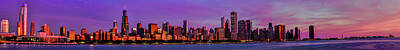 Photograph - Chicago Sunrise Panorama by Josh Bryant
