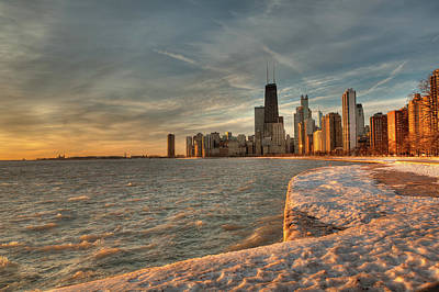 Chicago Photograph - Chicago Sunrise by Steve Gadomski