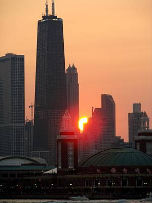 Royalty-Free and Rights-Managed Images - Chicago Sunset by Glory Fraulein Wolfe
