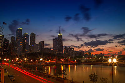 Windy Photograph - Chicago Sunset by Melanie Viola