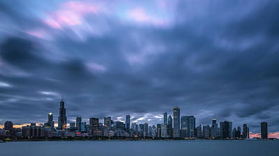 Photograph - Chicago Sunset by Ryan Heffron