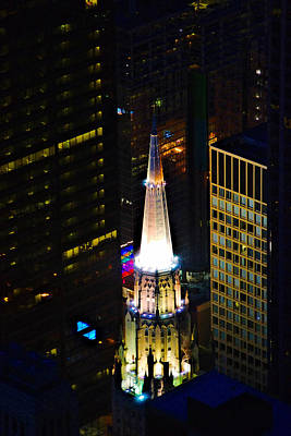 Photograph - Chicago Temple Building Steeple by Richard Zentner