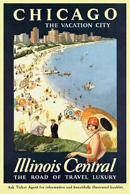 Chicago The Vacation City - Vintage Poster Restored Art Print