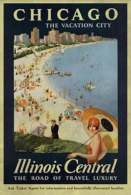 Chicago The Vacation City - Vintage Poster Vintagelized Art Print