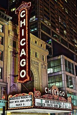 Photograph - Chicago Theater Close Up by Frozen in Time Fine Art Photography