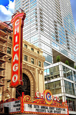 Photograph - Chicago Theater Style by John Rizzuto